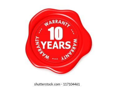 Ten years warranty seal