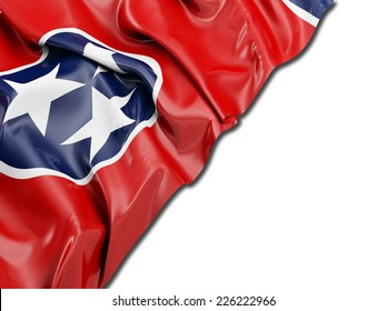 Tennessee Flag with white