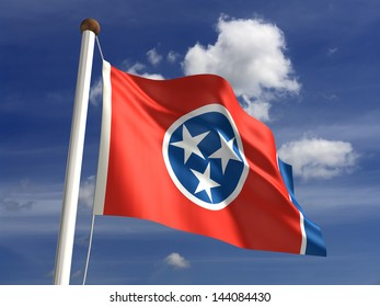 Tennessee flag (with clipping path)