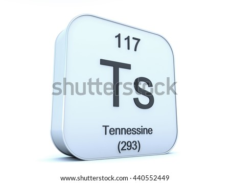 Tennessine 115 New Chemical Elements Periodic Stock Illustration