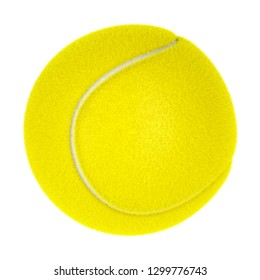 Tennis ball isolated on white background, 3D illustration