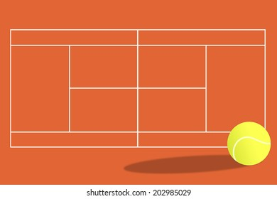 Tennis court background.