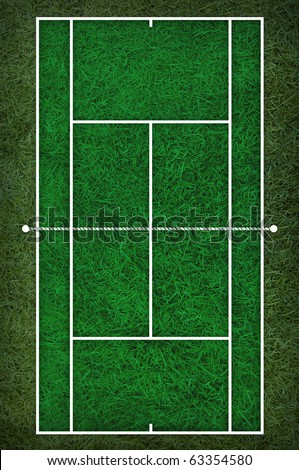 Royalty Free Stock Illustration Of Tennis Court Floor Plan On Grass