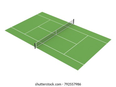 Tennis Court Isolated. 3D rendering