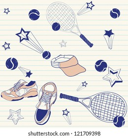 tennis doodles
