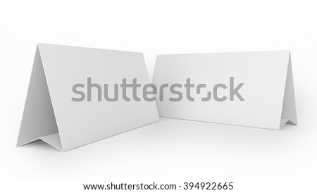 tent card folded reserved sign stock illustration 394922665