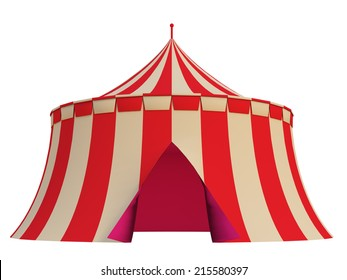 tent on a white background