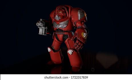 Terminator warrior 3d model render