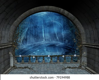 Terrace background