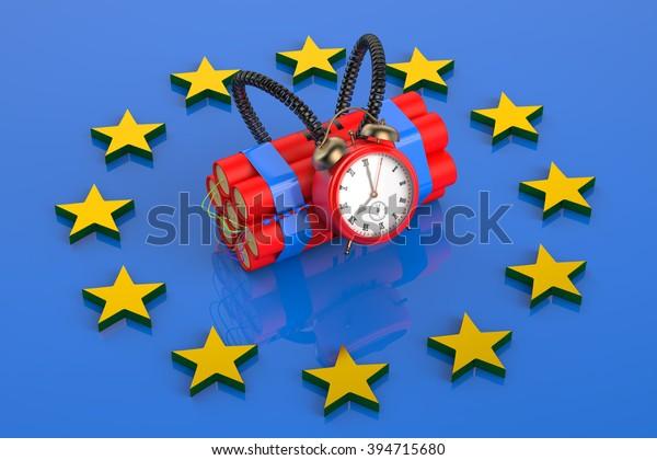 terrorism threat in European Union concept