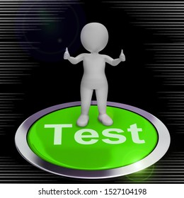 Test concept icon means beta version or trial. Online development or programming update - 3d illustration
