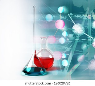Test tubes science background