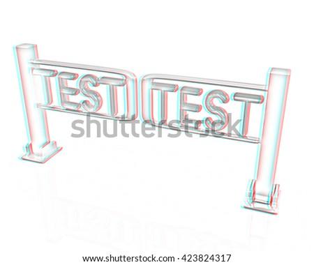 Test Turnstile On White Background Pencil Stock Illustration