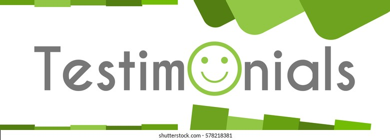 Testimonials Green Abstract Shapes