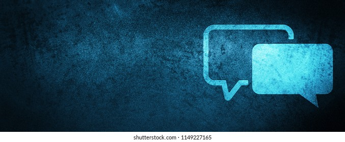 Testimonials icon isolated on special blue banner background abstract illustration