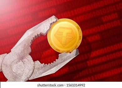 Tether regulation; tether (USDT) coin is under pressure