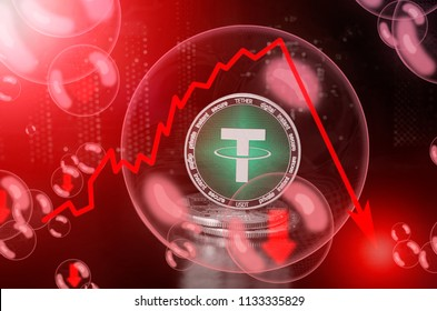 TETHER (USDT) in a soap bubble. Risks and dangers of investing to TETHER. Collapse of the exchange rate. Unstable concept