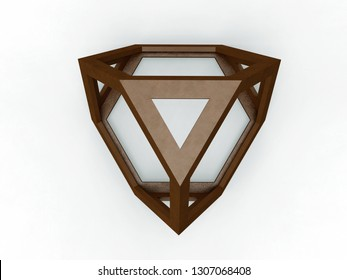 Tetraedron, Leonardo da Vinci, illustration for the Divina Proportione book page 197.