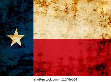 Texan flag with a vintage and old look