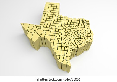 3d Map Of Texas.Texas 3 D Map Illustration Stock Illustration Royalty Free Stock