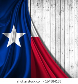 texas flag fabric,wood background
