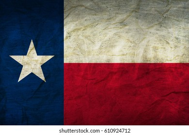 Texas Flag on Paper