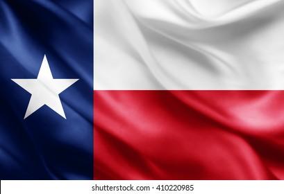 texas flag of silk