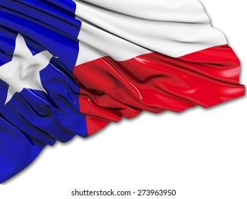Texas Flag with white