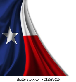 Texas flag  and white background