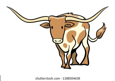 Texas Longhorn Simple Graphic
