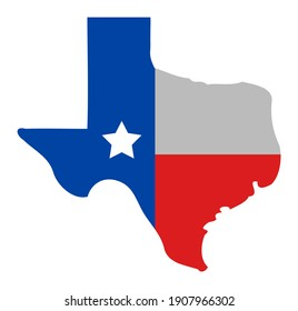 Texas map logo icon with flat style. Isolated raster texas map logo icon image, simple style.
