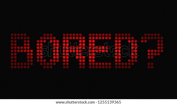 Text Bored Question Mark Red On Stock Illustration 1255139365