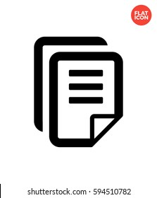 Text files group Icon Flat Isolated Illustration