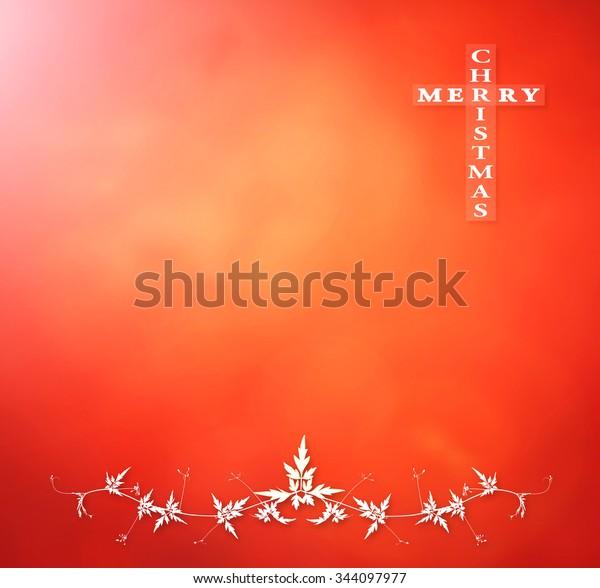 Merry Christmas Vine.Text Merry Christmas Leaves Vine Frame Stock Illustration
