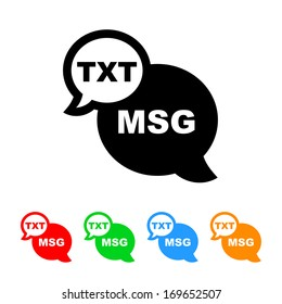 Text Message Icon with Color Variations