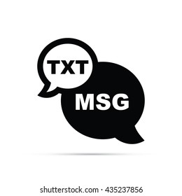 Text Message Icon.  Raster Version