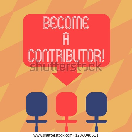 Text Sign Showing Become Contributor Conceptual Stock Illustration