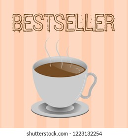 Text sign showing Bestseller. Conceptual photo Book product sold in large numbers Successful literature