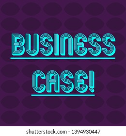 Text sign showing Business Case. Conceptual photo provides justification for undertaking a project or program Oval Geometric Shape in Rows and Columns in Violet Monochrome Round Pattern.