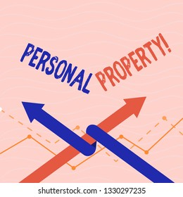 Text sign showing Personal Property. Conceptual photo Belongings possessions assets private individual owner.