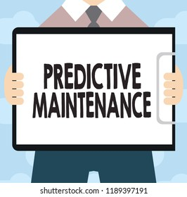 Text sign showing Predictive Maintenance. Conceptual photo Predict when Equipment Failure condition might occur