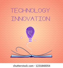 Text sign showing Technology Innovation. Conceptual photo advanced net connected devices a Creative Technique