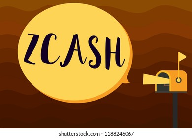 Text sign showing Zcash. Conceptual photo cryptocurrency with decentralized blockchain that provides anonymity