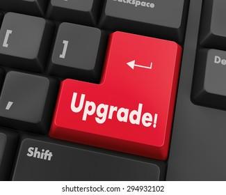 Text Upgrade Button 3d Render