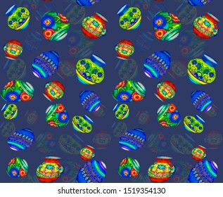 Textile digital background multi color flower, Ethanic pattern and butta design