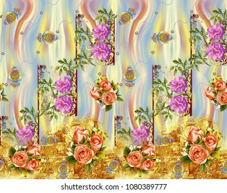 textile print background design
