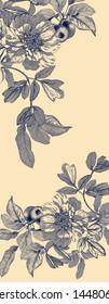 Textile Print Watercolor Illustration Manual artwork
