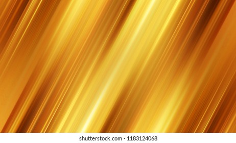 Texture for background with diagonal bronze or copper stripes with blurry center. A beautiful modern template for website, banner or presentation. Smooth parallel sparkling lines. Light yellow color.