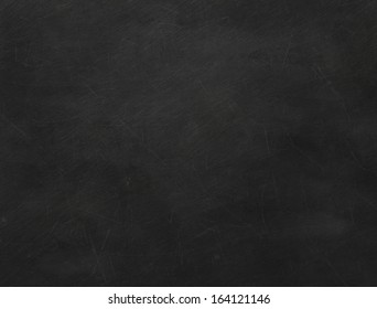Texture of black blank chalkboard. Old school chalkboard scratched.