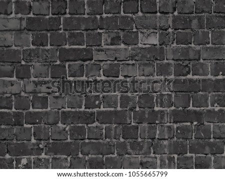 Texture Brick Wall Elegant Wallpaper Design Stock Illustration
